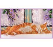 Набор для вышивки бисером Рыжий кот