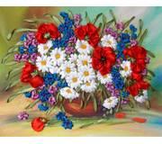 Набор для вышивания лентами Цветочный ковер