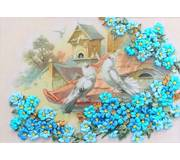 Набор для вышивания лентами Верные голуби
