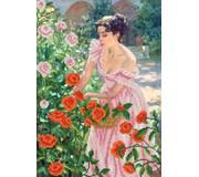 Схема для вышивки бисером Свежие розы