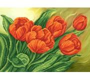 Схема для вышивки бисером Красные тюльпаны