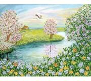 Схема для вышивки бисером Цветущая весна