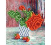 Схема для вышивки бисером Прекрасная роза
