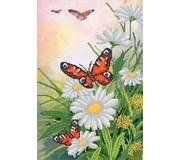 Схема для вышивки бисером Порхающие бабочки