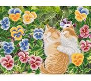 Схема для вышивки бисером Кошачьи радости