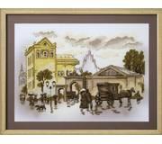 Набор для вышивки крестом Городские зарисовки. Театральная площадь