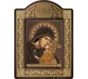 Набор для вышивки бисером в рамке-киоте Св. Анна с младенцем Марией