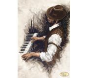 Схема для вышивки бисером Джаз. Пианино