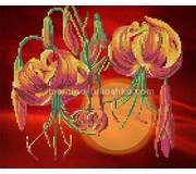 Схема для вышивки бисером Тигровые лилии
