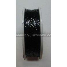 Металлизированная нить Люрекс Адель, черный 80-02, 100 метров
