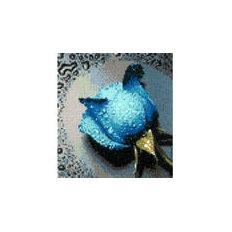 Голубая роза — алмазная мозаика, мастер-класс