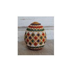 Пасхальное яйцо из бисера — бисероплетение, мастер-класс