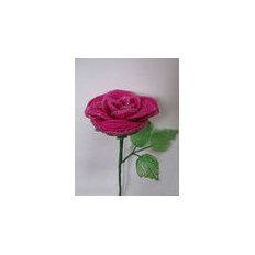Роза — бисероплетение, мастер-класс
