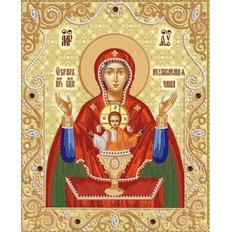 Схема для вышивки бисером Икона Божией Матери &#039,&#039,Неупиваемая Чаша&#039,&#039,