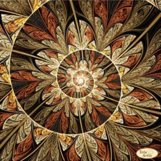 Схема для вышивки бисером Фрактал Спираль жизни