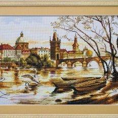 Набор для вышивки крестом Прага. Карлов мост