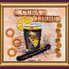 Набор для вышивки бисером магнит Куба Либре