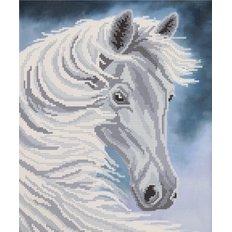 Схема для вышивки бисером Белогривая лошадь