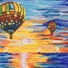 Схема для вышивки бисером Воздушные шары