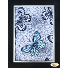 Набор для вышивки нитками Бабочка