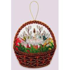 Набор для создания игрушки из фетра Праздничная корзинка