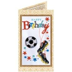 Набор для вышивки бисером открытка Моему футболисту