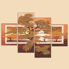 Схема для вышивки бисером Утро Африки, полиптих из 4 частей