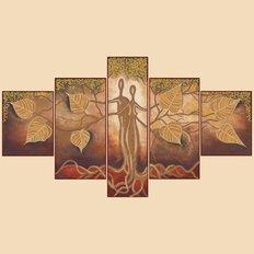Схема для вышивки бисером Узы любви, полиптих из 5 частей