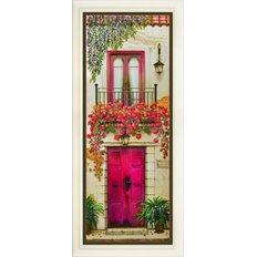 Набор для вышивки нитками в стиле Rococo Цветущий балкон