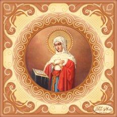 Схема для вышивки бисером Богородица