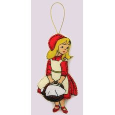 Игрушка из фетра Красная шапочка