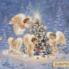 Набор папертоль Рождественские ангелы