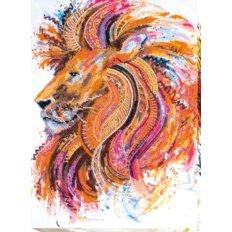 Набор для вышивки бисером Огнегривый лев