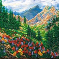 Набор для вышивки бисером Горный пейзаж