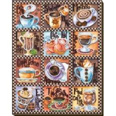 Набор для вышивки бисером Кофейная карта