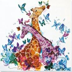 Набор для вышивки бисером Пятнистые жирафики