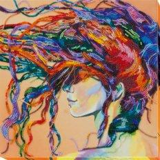 фото: картина для вышивки бисером, Девушка