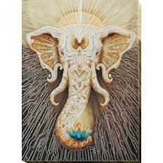 фото: картина для вышивки бисером, Белый слон