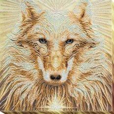 фото: картина для вышивки бисером, Волк Вождь