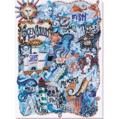 фото: картина для вышивки бисером, Тайны океана