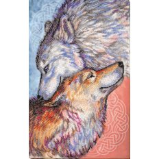 фото: картина для вышивки бисером, Пара волков