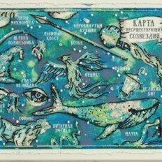 фото: картина для вышивки бисером, Карта несуществующих созвездий