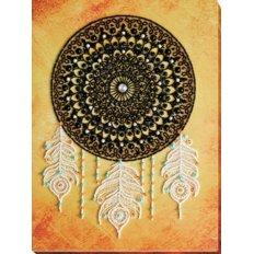 фото: картина для вышивки бисером, Мандала с перьями