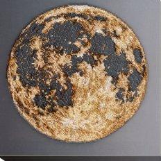 фото: картина для вышивки бисером на холсте, Луна