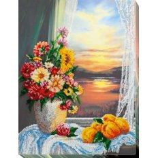 фото: картина для вышивки бисером на холсте, Натюрморт с айвой