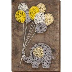 фото: набор стринг-арт, слоник с шариками
