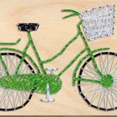 фото: картина с технике стринг-арт Велосипед