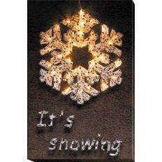 фото: картина с технике стринг-арт Снежинка