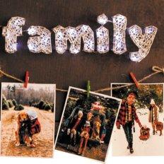 фото: картина с технике стринг-арт Счастливая семья