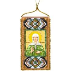 Набор для вышивки бисером Молитва к святой Матроне (украинский текст молитвы)
